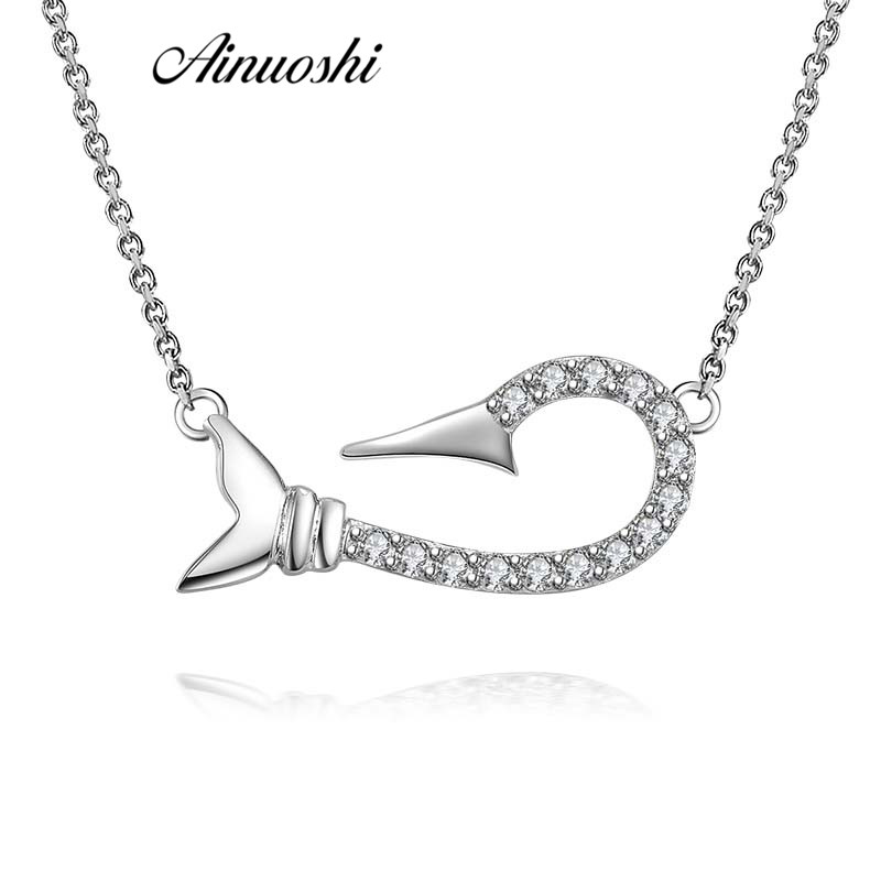 Women Fashion 925 Sterling Silver Wedding Charm Pendant Necklace Jewelry Gift