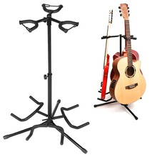 Portable Universal Guitar Stand Black Folding Tripod Stand Acoustic Classical Electric Guitar Stand Bass Holder Multifunctional цена и фото