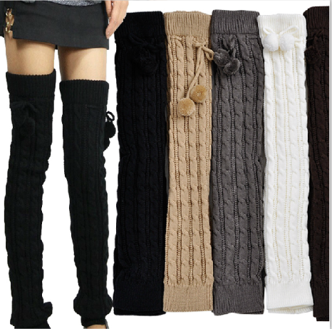 cheap high quality leg warmers wholesale cotton women/girl fashion boot socks