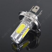2 шт. H4 с объективом супер яркий Автомобильный светодиодный передний светильник отличается высокой h4 ближнего и дальнего света светильник тумана Лампа накаливания свет 12 V-24 V