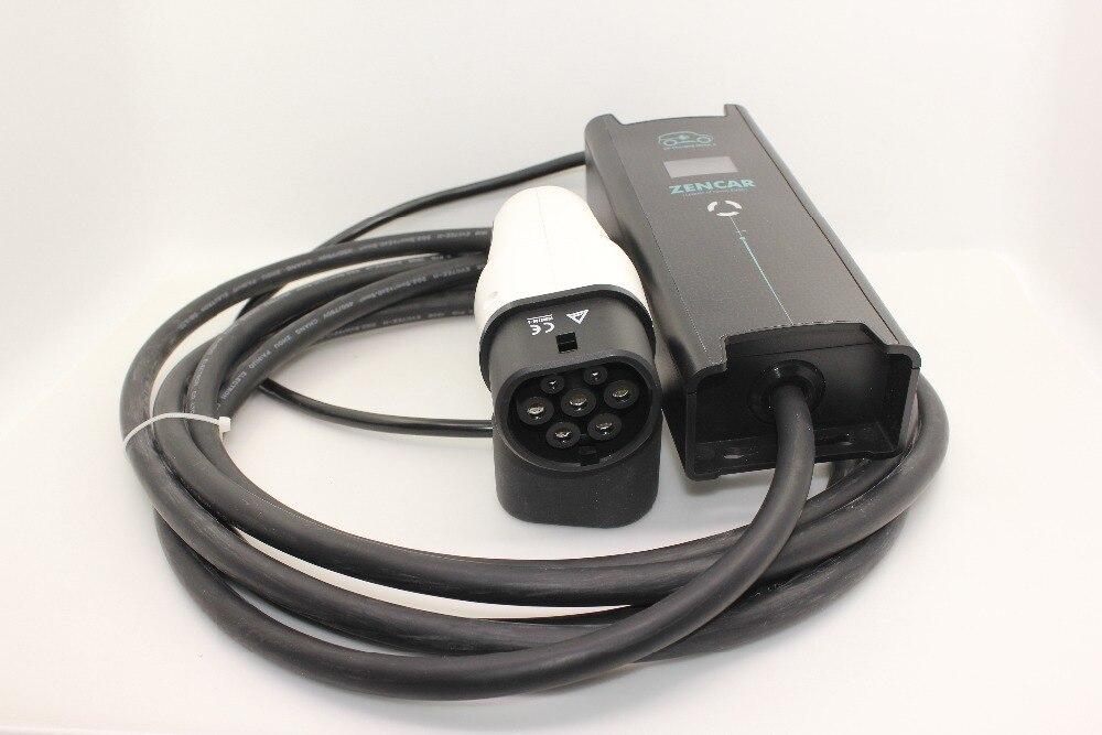 5 broches fiche cee IEC62196 Type 2 7 broches fiche ev réglable SAVE 10A 16A 24A 32A 5 M câble pour Mode 2 Électrique De Voiture De Charge à la maison
