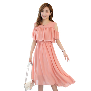 Image 5 - 6206 # אלגנטי שיפון יולדות סיעוד שמלת קיץ אופנה בגדי הנקה לנשים בהריון הריון הנקה