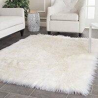 Белый из искусственной овчины одеяло Искусственный мех Коврик декоративные Ковёр Одеяла для кровать пол Коврик S и Ковёр S для Гостиная