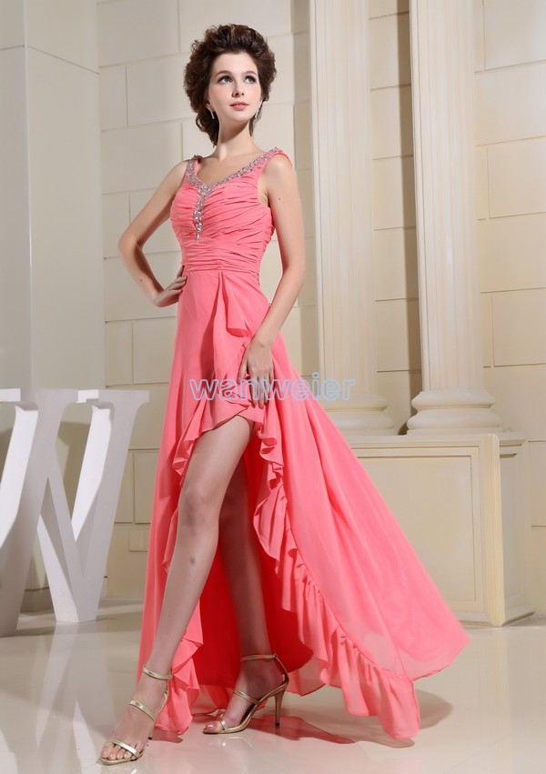 cd87f8c5dbe free shipping long prom dresses 2016 new formal maxi dress beading long new  design brides bright pink chiffon evening Dresses