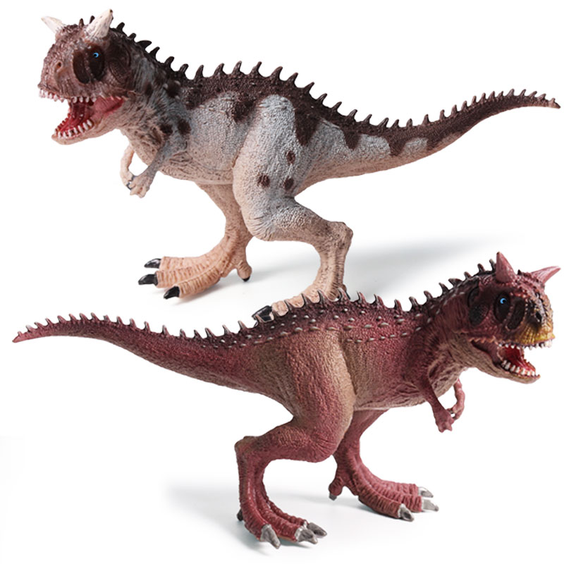 Oenux Carnotaurus Dinosaur World Model Figurines Toys Jurassic Carnotaurus Mouth Can Open Action Figure Collection Toy For Kids