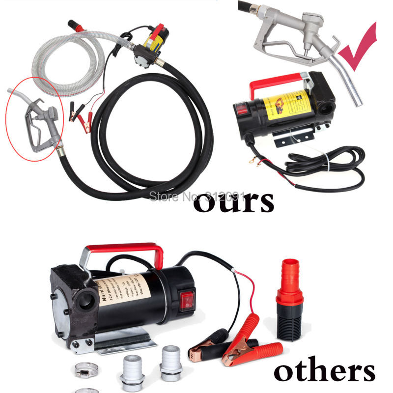(Ship From US) 45L/Min 12V Diesel 12V Diesel Cast Fuel Oil Transfer Pump 175W 11GPM Direct Biodiesel Kerosene Pump Kit 3600rpm cast iron micro oil transfer pump 12v electric 5l min gear oil pump