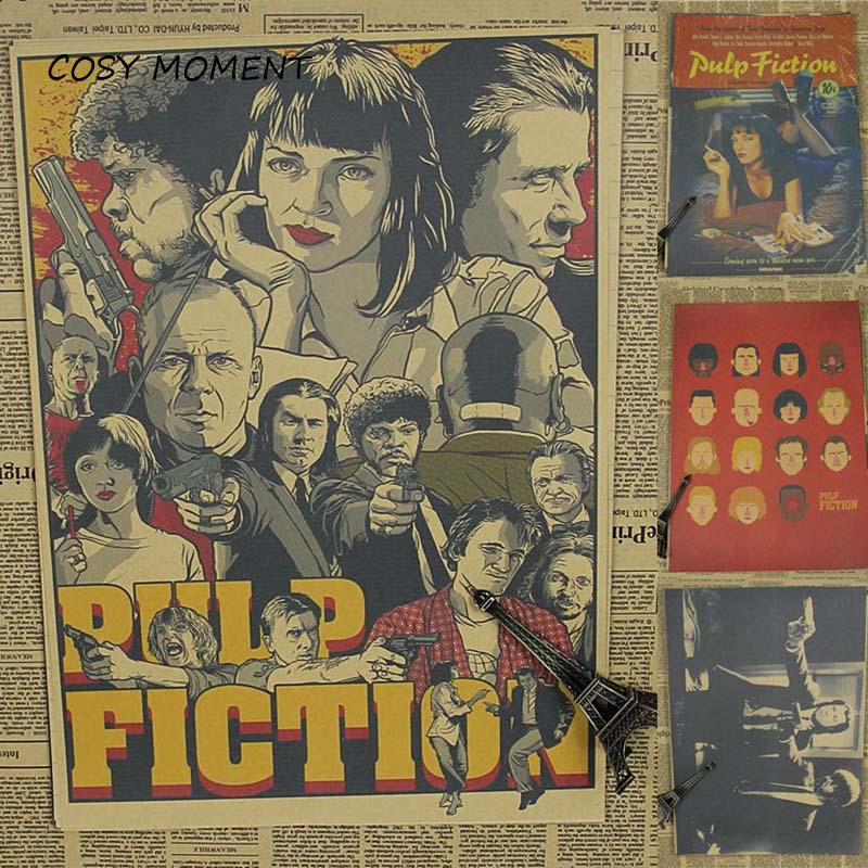 cosy-moment-pulp-fiction-quentin-font-b-tarantino-b-font-classic-movie-vintage-matte-kraft-paper-poster-wall-sticker-home-decor-qt355