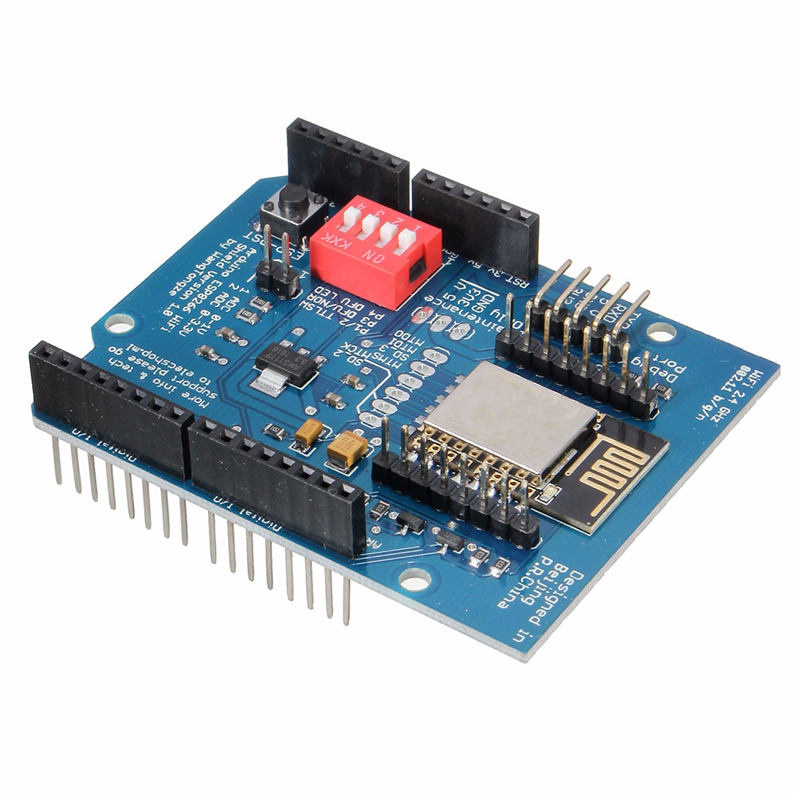 ESP8266 ESP-12E UART WIFI Wireless Shield Development Board For Arduino UNO R3 Circuits 70 x 60 x 20 mm Boards Modules development board w data cable for arduino uno r3 deep blue cable 52cm