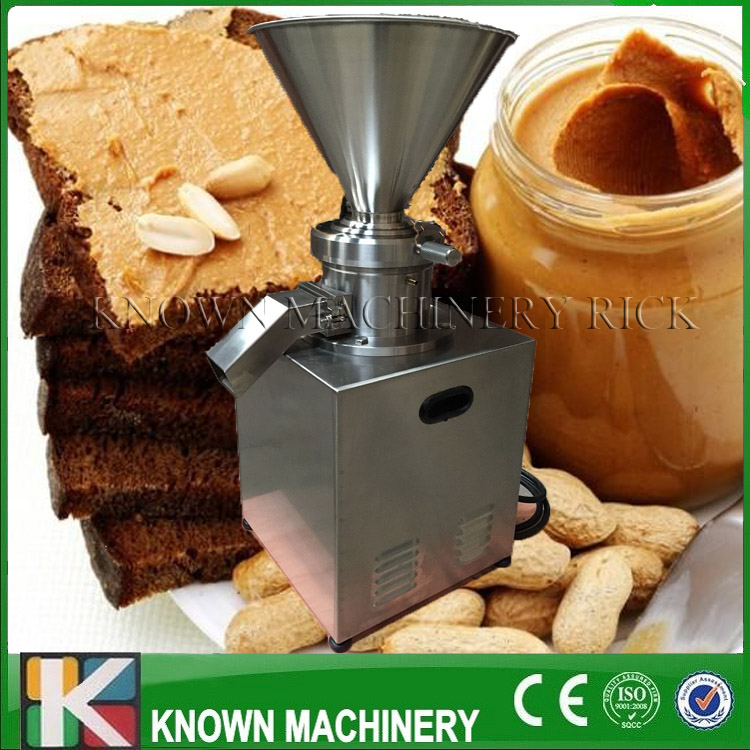 2017 the best selling 4000W colloid mill /homogenizer/crusher vertical type peanut butter with stainless steel best electric peanut butter maker with cheaper price
