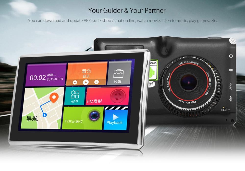 Inch Car Tablet Gps Navigator P Dvr Recorder Android  Quad