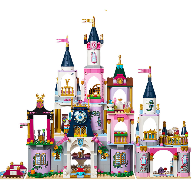 Princess Legoings Cinderella Elsa Anna Mermaid Ariel Castle Building Blocks Figu Baukästen & Konstruktion