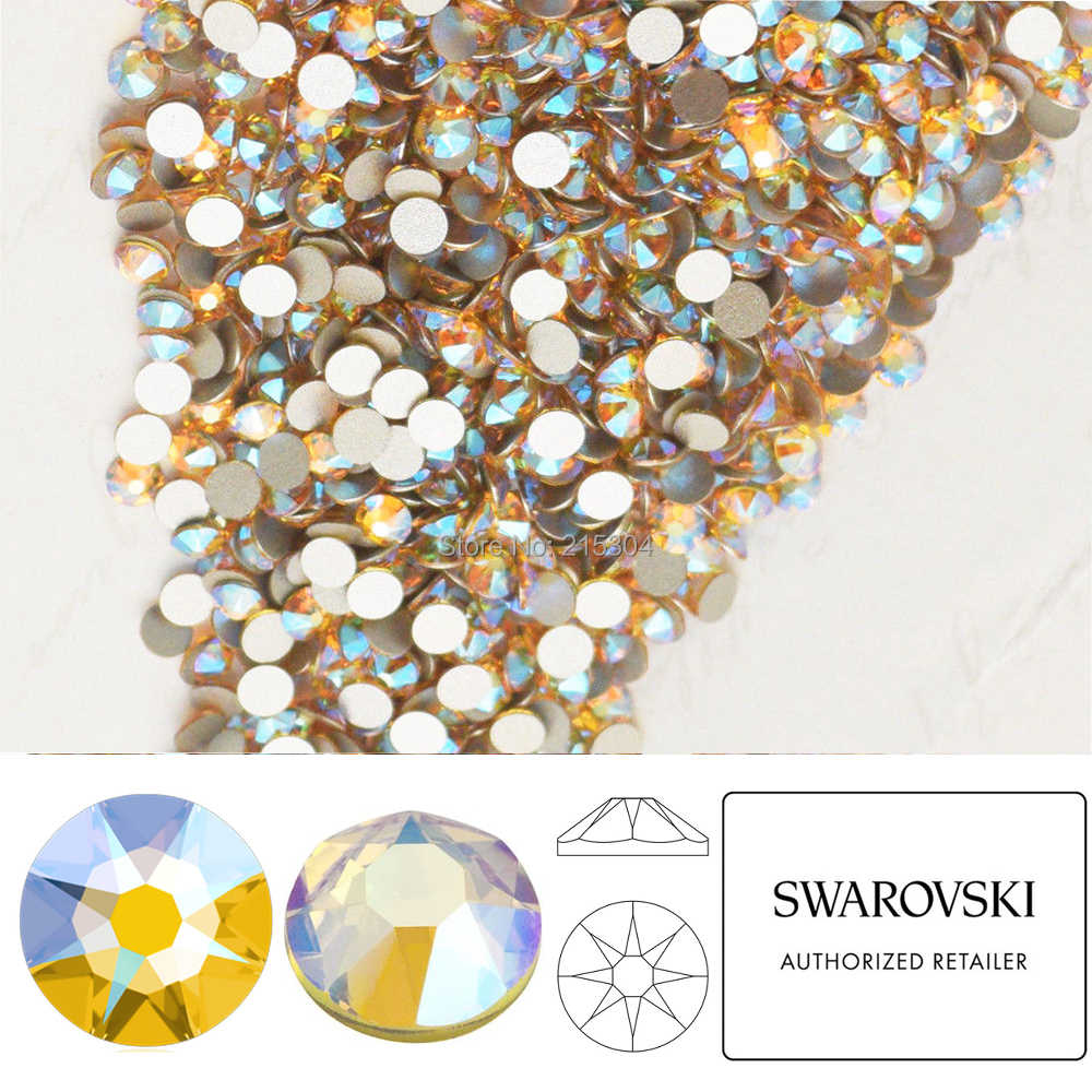NEW Effect Swarovski Elements Light Topaz Shimmer ( 226 SHIM ) ( ss5 - ss30  ) b55d49986204