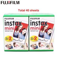 Fuji Fujifilm Instax Mini 8ฟิล์มBlanc 2แพ็ค40แผ่นฟิล์มสำหรับMini 11 7 7S 8 9 90 25 55หุ้นSP 1กล้อง