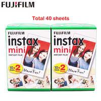 Fuji Fujifilm Instax Mini 8 Film Blanc 2 paquets 40 feuilles Film pour 7 s 8 9 90 25 55 partager SP-1 appareil photo instantané
