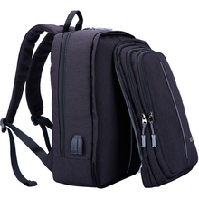15.6 to 17 Inch Males Backpack Exterior USB Charging Pc Bag Oxford Pocket book Backpack Ladies Waterproof Laptop computer Backpack 3018