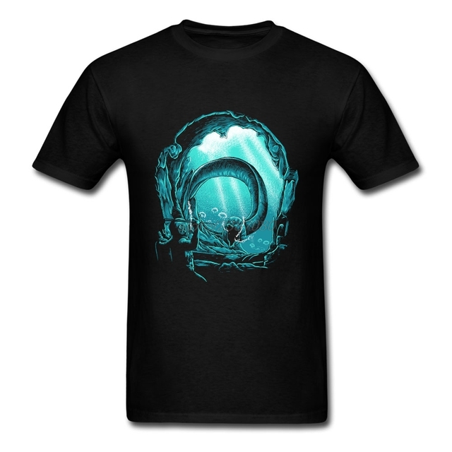 Hot Sale Deep Sea Diver Cotton T Shirts For Men the deep explorer Adult Short Sleeve T-Shirt 100% Cotton Adult Designer Shirts