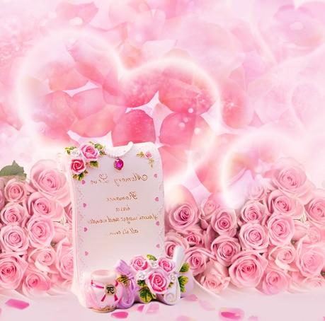 10x10ft Happy Valentine Day Light Pink Rose Flowers Love Wedding