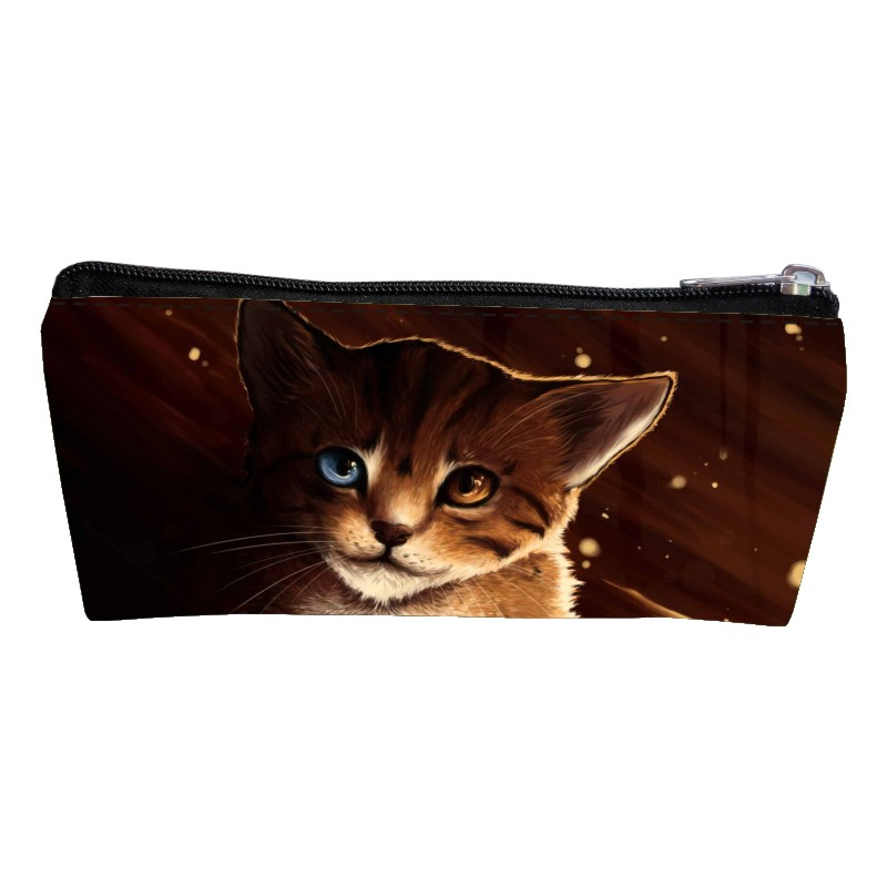 New Arrivals Polyester Printing Animal Cat Children Key Wallet  Women Coin Purses Kids Baby Pen Bags Teenagers Change Purse Boys