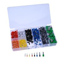 800pcs Electrical Bootlace Copper Ferrules Terminal Kit Cable Wire Copper Crimp Connector Insulated Cord Pin End