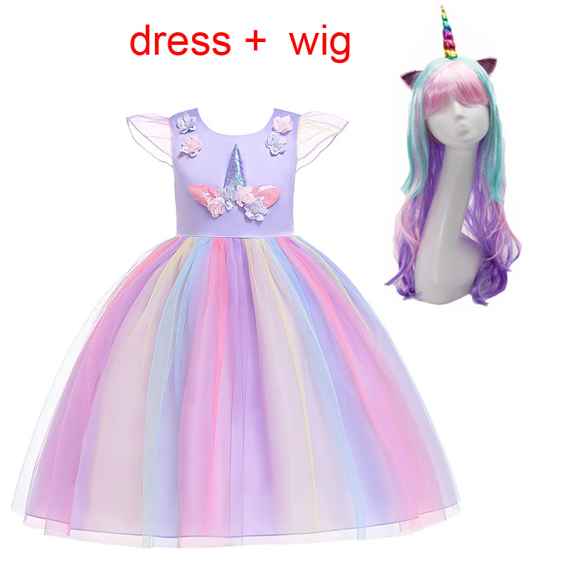 Fashion 2019 My Little Girl Unicorn Party Toddler Christmas Princess Dress Kids Dresses For Girls  Tutu Dress Elegent Costume