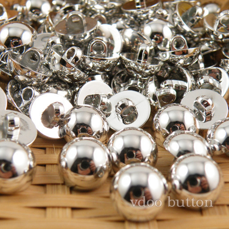 Button clasp white plastic plating uv light shirt button mushrooms decorative buckle clasp sewing supplies