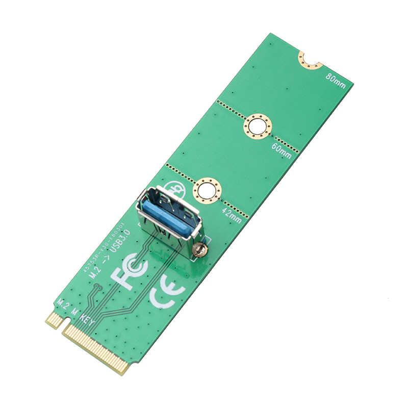 Kebidumei ngff m.2 para usb 3.0 adaptador de cartão m2 para usb3.0 extensor cartão para pci-e riser cartão para bitcoin litecoin máquina de mineração