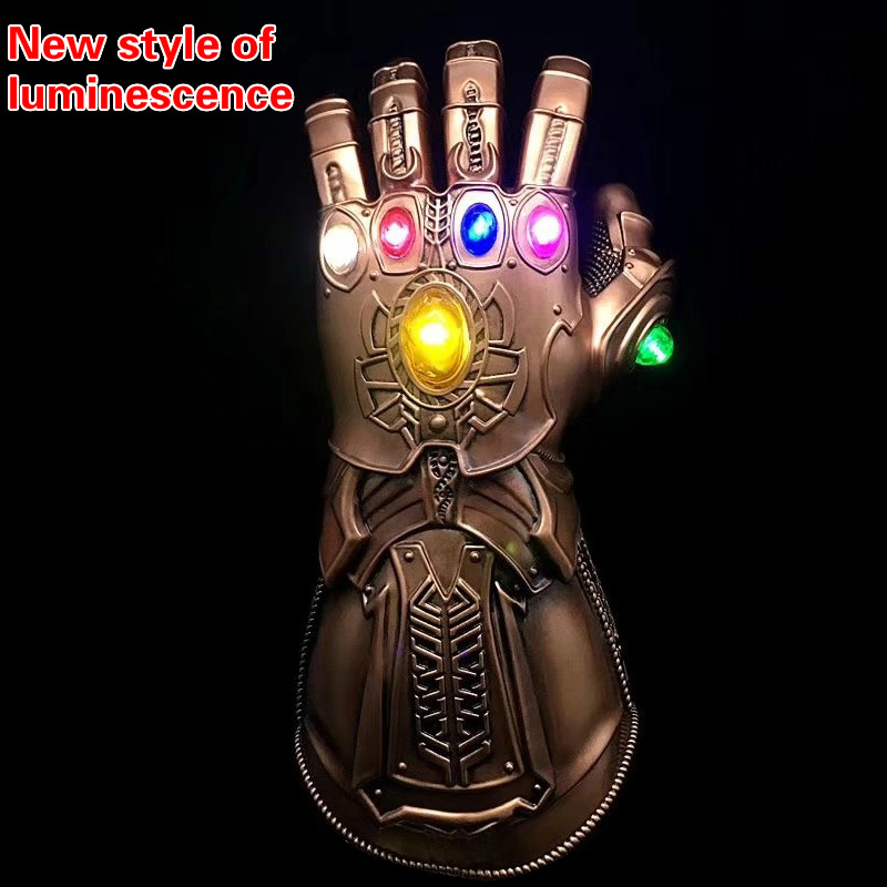Luminescence Avengers Infinity War Thanos Gauntlet Legends Moive Figure Model PVC 1:1 Gloves Halloween Cosply Prop Toys