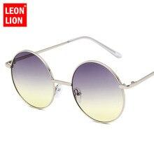 LeonLion 2019 Round Metal Sunglasses Women Candy Color Mirror Men Marine Film Oculos Feminino Vintage Sun Glasses