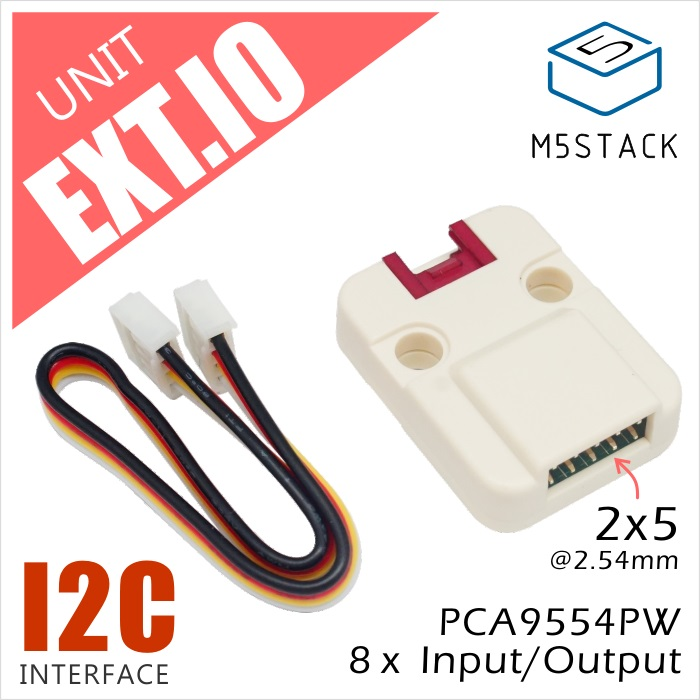 M5Stack Official Extend Serial IO I/O Unit Grove Cable I2C Interface For Arduino Blockly ESP32 Development Board Module IoT