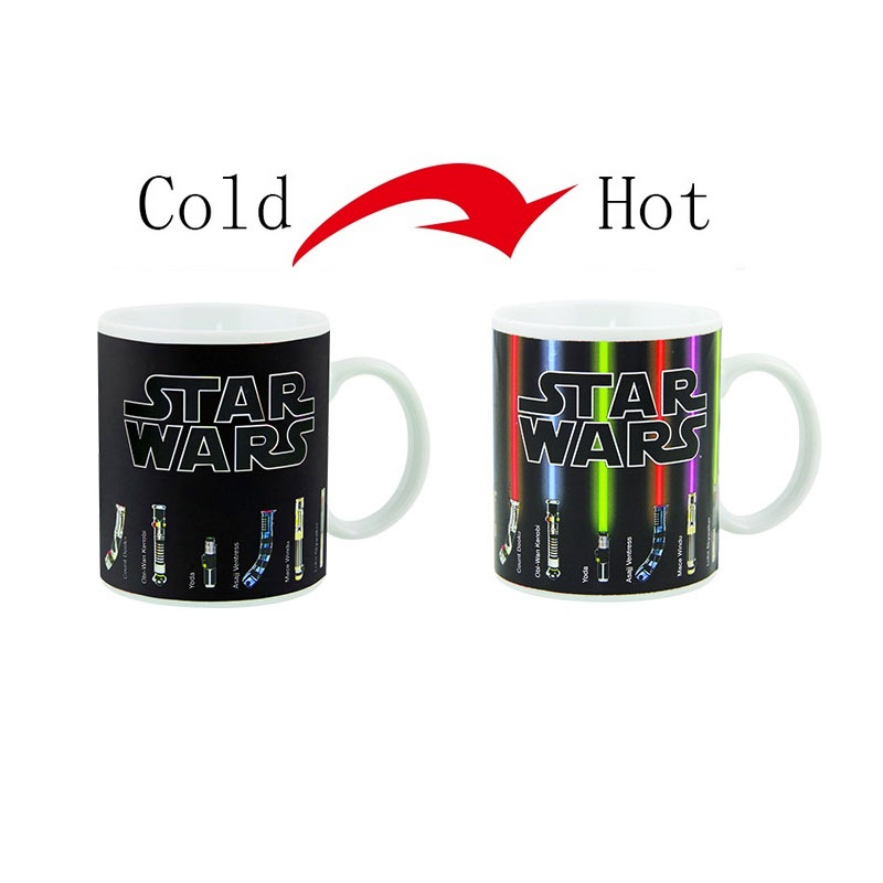 Hot Sale New Fashion Tea Coffee Mug Magic Mugs Cup Change Color Star Wars Lightsaber Heat