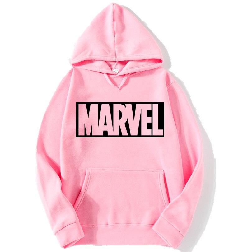Brand 2017 New Women/Men's Casual Marvel Print Hedging Hooded Fleece Sweatshirt Hoodies Pullover Clothing Size M-3XL