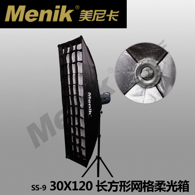 ФОТО 2PCS Godox 30x120cm  Strip Beehive Honeycomb Grid Softbox w/ Bowens Mount CD50