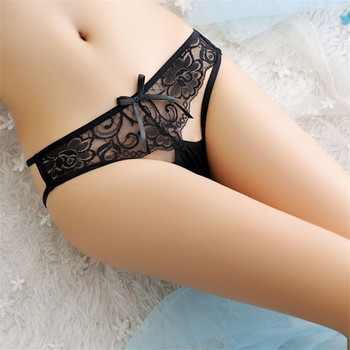lace underwear women sexy panties fun g string underpants bow thong hollow out briefs ladies sexy panties