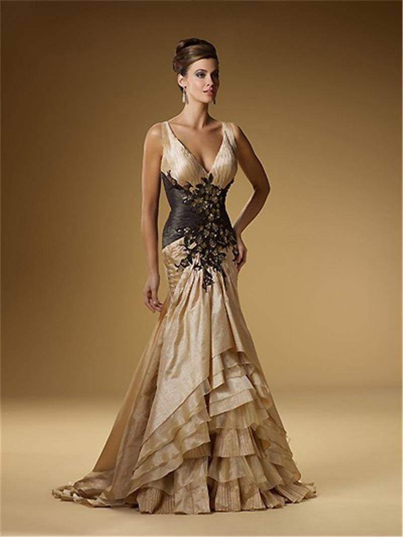 Gold Evening Gown Wedding Dress