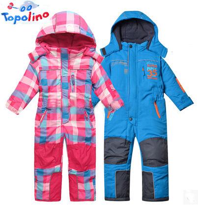 Novo Topolino 24M-5year baby & kids Inverno romper terno de esqui espessamento macacão de algodão-acolchoado casacos e jaquetas para crianças