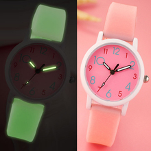 Ultra-thin luminous youth children watch girl students clock