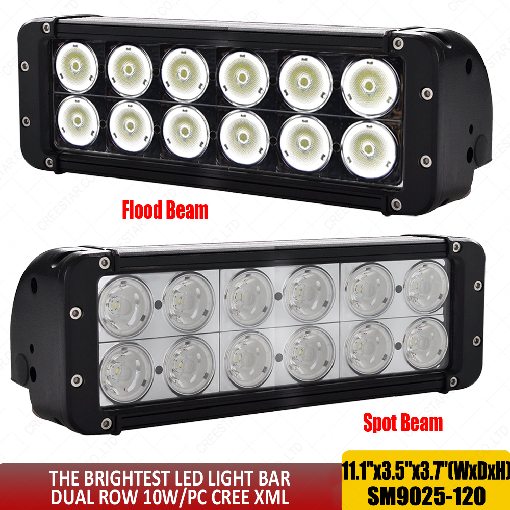 11 inch Dual Row 12leds 10w/pc XML chips 120W led off road lights 12v in work/light bar Front Bumper Bottom Brackets slide x1pc sitemap 139 xml