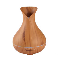 400ml Aroma Essential Oil Diffuser Ultrasonic Air Humidifier With Wood Grain 7Color Changing LED Lights Electric