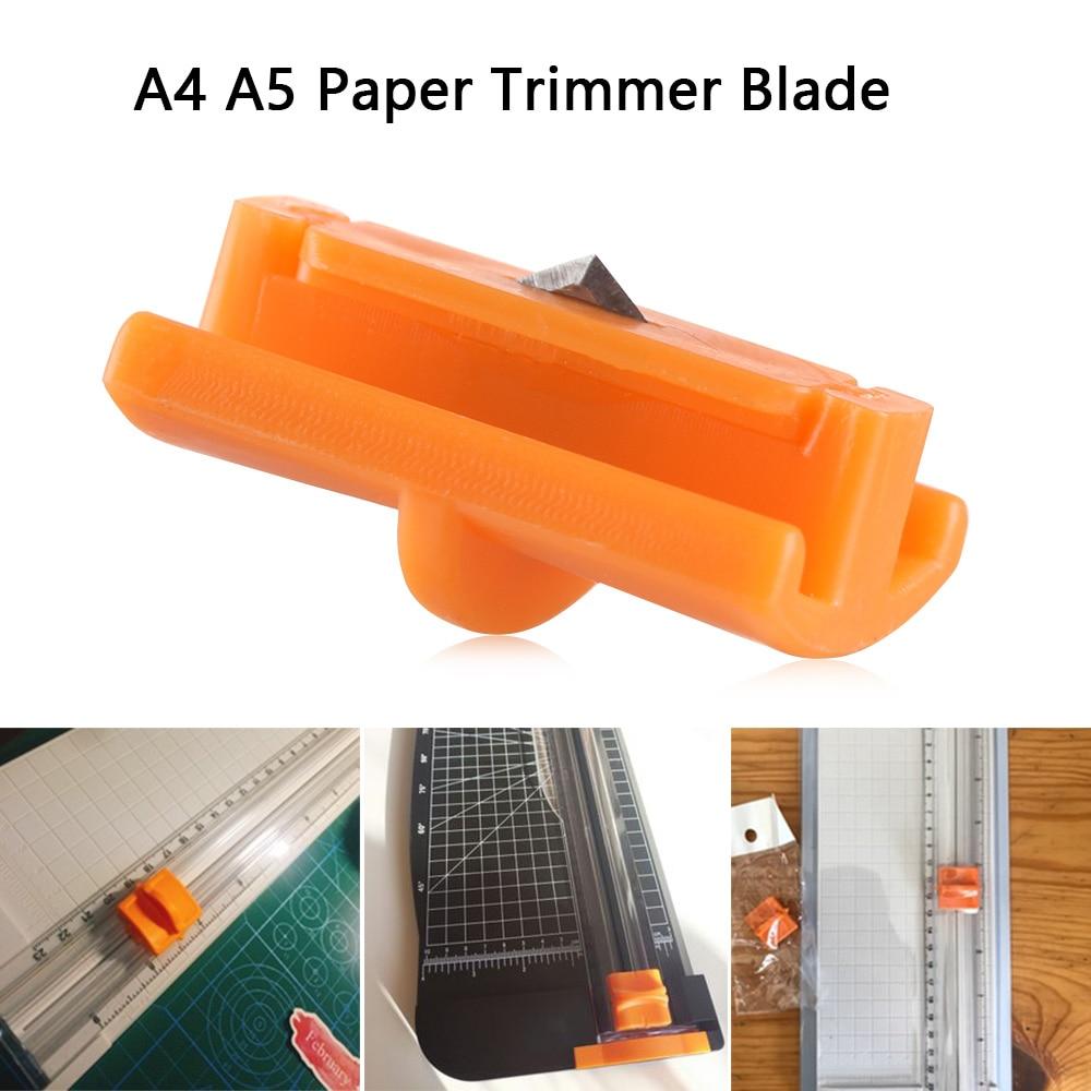 4pcs A5 Paper Cutter Replacement Blade Hidden Cut Head Trimmer for Office School