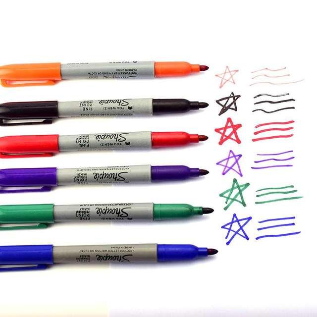 6pcs Set 6 Colors Tattoo Marker Pen Permanent Markers Wonderful Eco Friendly Marker Pen Sharpie Fine Point Permanent Tattoo Ink