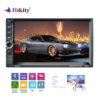 Hikity Double Din 7'' HD Car MP5 Radio Video Player Bluetooth 4.2 Mirror Link Autoradio DVR HD 1080P Support Rear View Camera