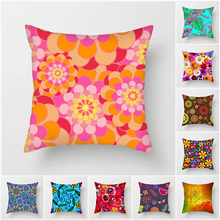 Fuwatacchi Floral Throw Pillows Pillow Cover Flower Painted Cushion Cover for Sofa Home Chair Decorative Pillow Case 2019 цена и фото