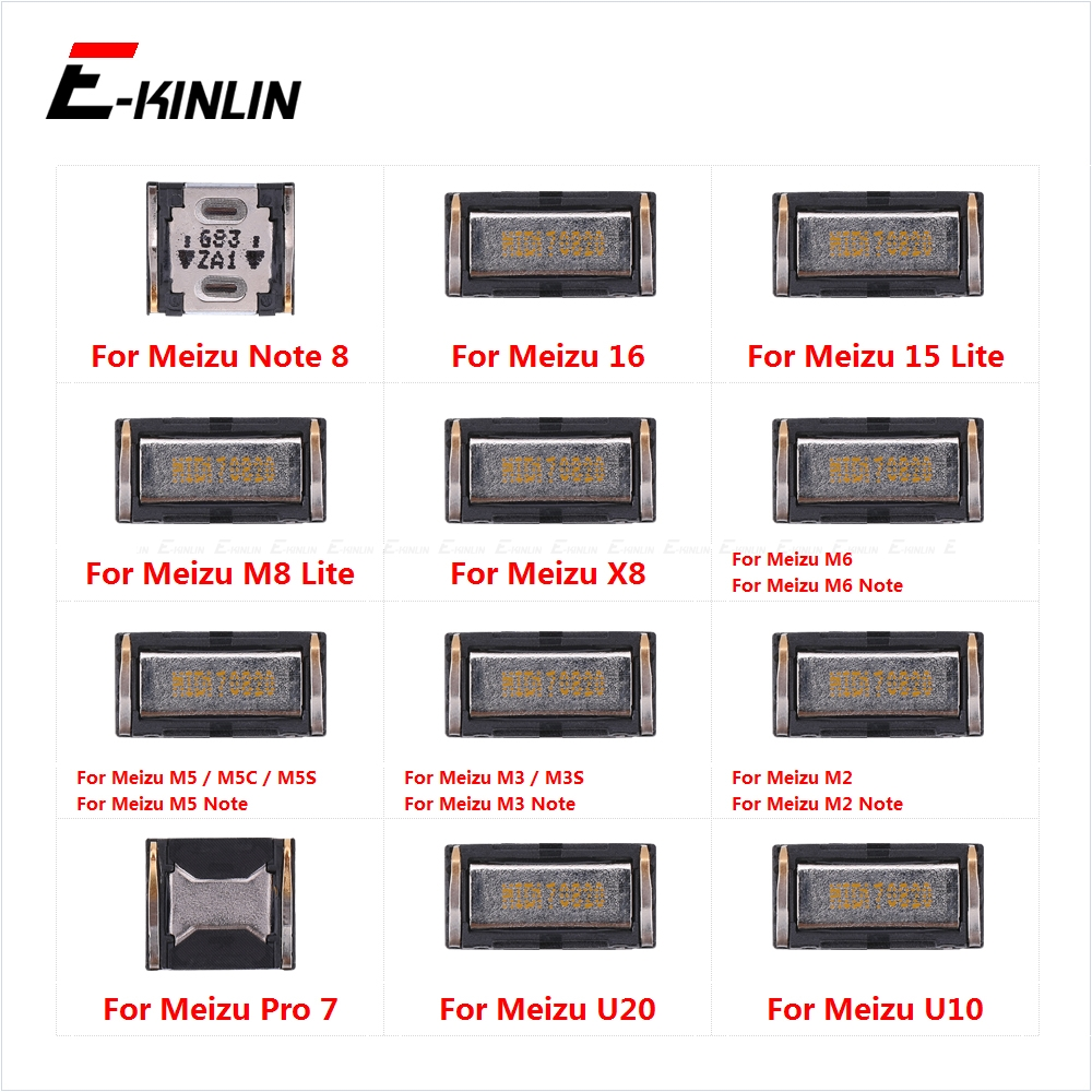 Top Ear Speaker Receiver Earpieces For Meizu 16 15 M8 Lite X8 M6 M5 M3 M2 Note 8 U20 U10 Replacement Parts