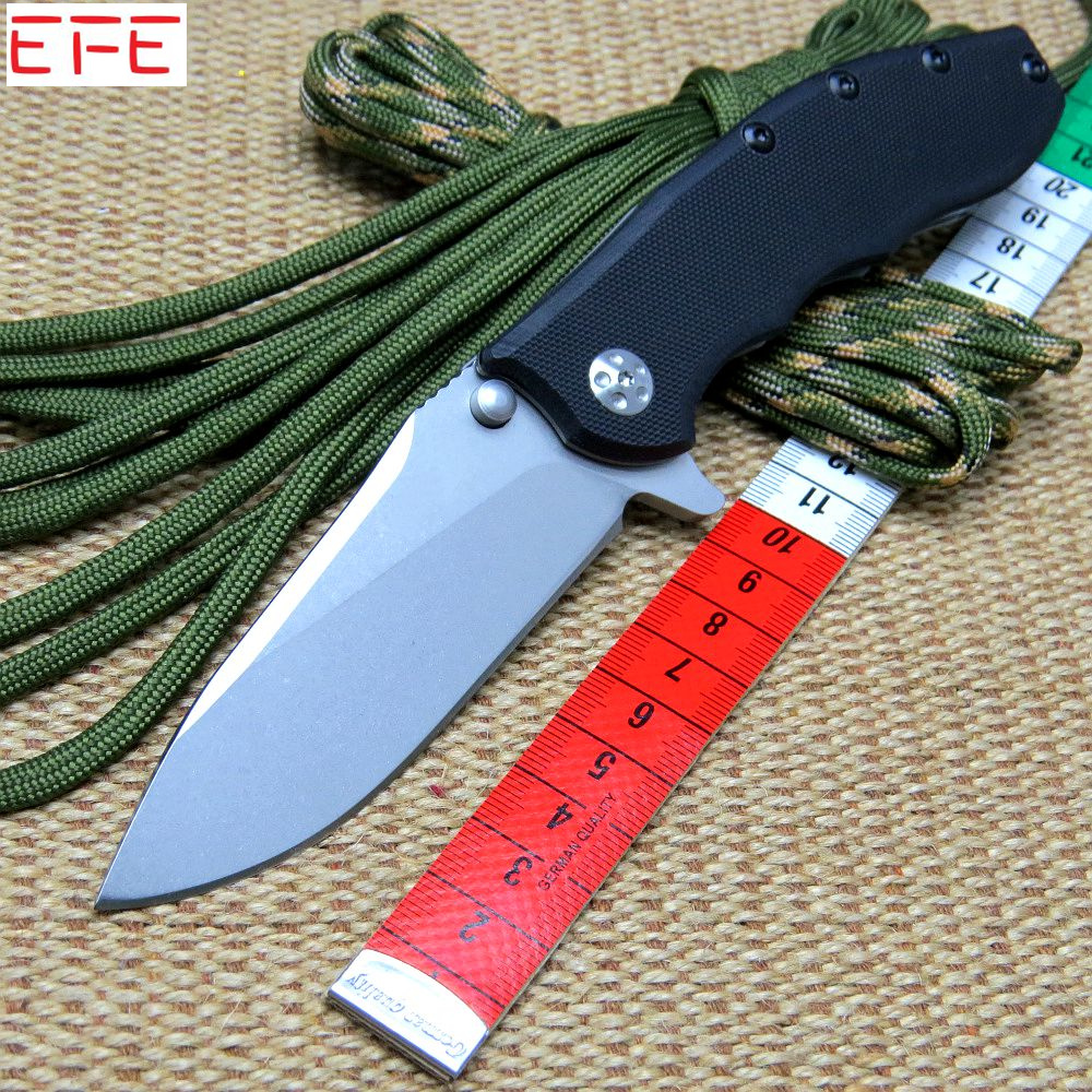 EFE 0562 Ball Bearing Folding Blade Knives 9CR18MOV Blade Titanizing Steel G10 Handle Camping Knife Outdoor Tool knife  цены
