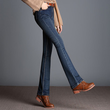 Ms Spring New Fashion Cotton Tall Waist High-grade Ladies Leisure Brand Of Jeans Boyfriend Jeans