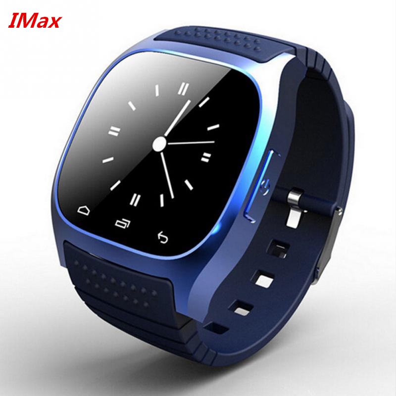 Free Shipping font b SmartWatch b font Bluetooth Smart Watch M26 with LED Display Dial Alarm