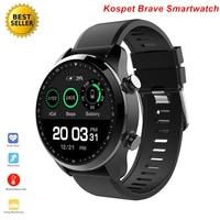 Kospet Brave 4G Smartwatch Waterproof IP68 Bluetooth Android 6.0 Call GPS Heart Rate Sleep Tracke Music Smart Watch Saatler
