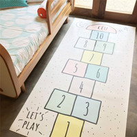 Children Play Mats Baby Hopscotch Gym Mat Tapete Infant Play Mat for Kids Game Rug Educational Sport Crawling Mats Blanket