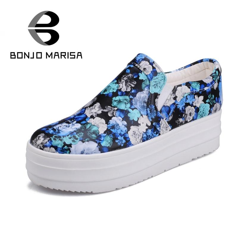 ФОТО New Korean Style Shopping Shoes Lady 2015 Beautiful Print Bright And Sweet Flats Little Round Toe Rubber Sole Flat Heel Shoes