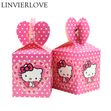 0736102ab251 6pcs set Cartoon Hello Kitty Paper Candy Boxs For Kids Birthday Party  Supplies Gift Boxes